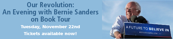 Buy tickets for Bernie Sanders event on November 22nd