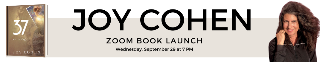 Author Joy Cohen and her new book 37