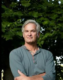 Author photo of Stephen Kiernan in front of trees